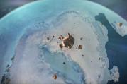 Buz tabakası altında dev krater keşfedildi