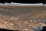 Curiosity'den Mars manzarası