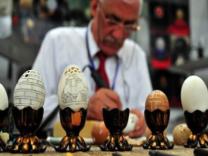Yumurta kabuğundan inanılmaz sanat