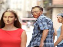 Klasik sanatla popüler kültürün Photoshop'la eğlenceli birleşimi