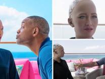 Will Smith, robot Sophia ile ilk randevusuna çıktı