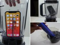 IPhoneX'i blenderda parçalayıp suyunu içmeye çalıştı