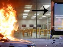 Apple ABD'de yağmalanan iPhone cihazlarına mesaj gönderdi