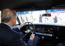 Cumhurbaşkanı Erdoğan klasik otomobil kullandı