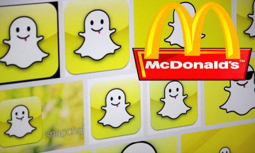 McDonald's işçi alımını Snapchat ile yapacak!