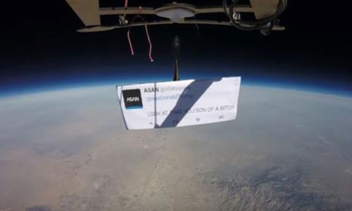 Trump'ı uzayda protesto ettiler