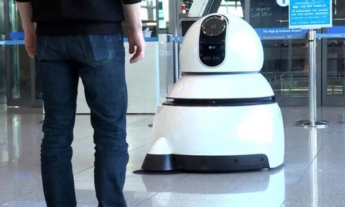 LG'nin robotları, havaalanında hizmete başladı!