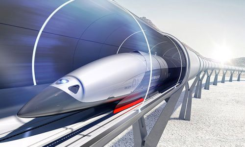Hyperloop one saatte 240 km'lik rekor hıza ulaştı.