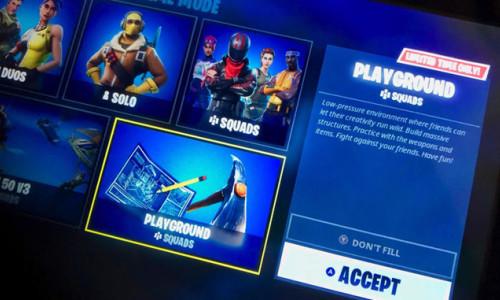 Fortnite Playground Practice modu pazartesi açılıyor!