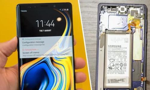 Samsung Galaxy Note 9 parçalara ayrıldı