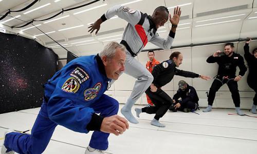 Usain Bolt sıfır yer çekimine meydan okudu