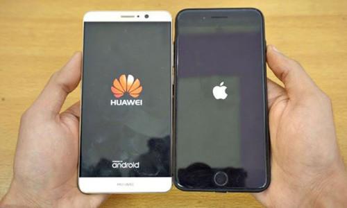 Çin'de Huawei satışları arttı iPhone satışları düştü