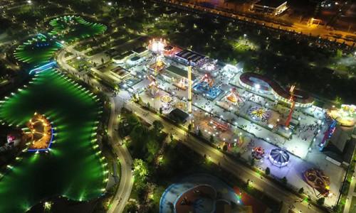 Konya'da park ve tesisler güneşle aydınlanıyor