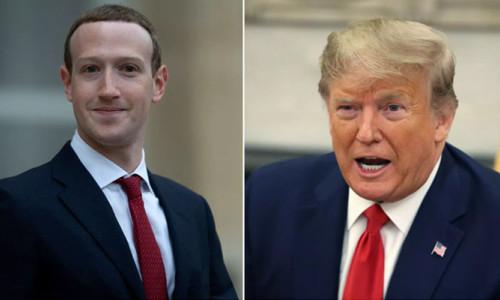 Trump, Facebook'un Üst Yöneticisi Zuckerberg ile görüştü