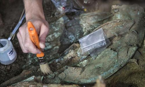 İtalya'da Demir Çağ'a ait arabalı mezar keşfedildi