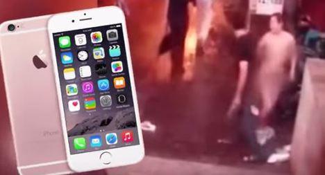 Sevgilisi iPhone 6S almayınca soyundu