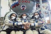 NASA astronotu ve kozmonotlar ISS yolcusu