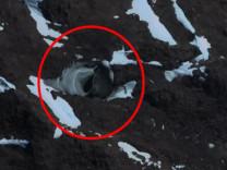 Google Earth ile görüldü! Buza oyulmuş kapıyı buldu