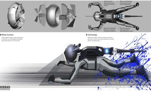 Yüzüstü yatarak zihin kontrolüyle kullanılan Nissan GTR-X konsepti