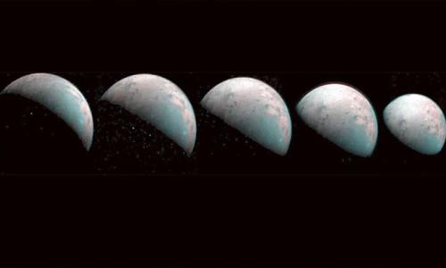 Jüpiter'in uydusu Ganymede'in görüntüleri paylaşıldı