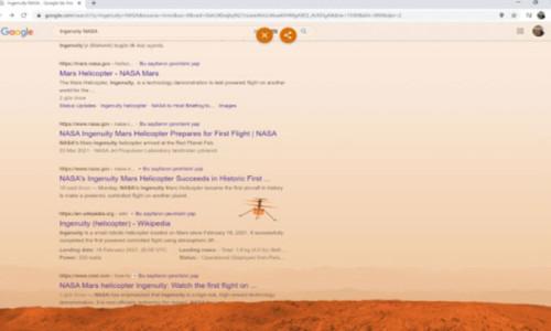 Google Mars'taki tarihi adımı böyle kutladı