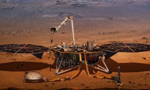 InSight uzay aracı Mars'ın iç yapısını görüntüledi